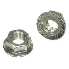 HEX FLANGE LOCKNUTS WITH SERRATIONS